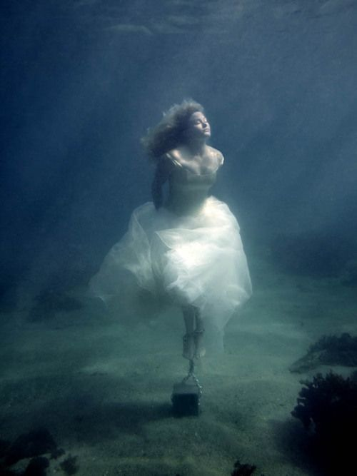 bride drowning